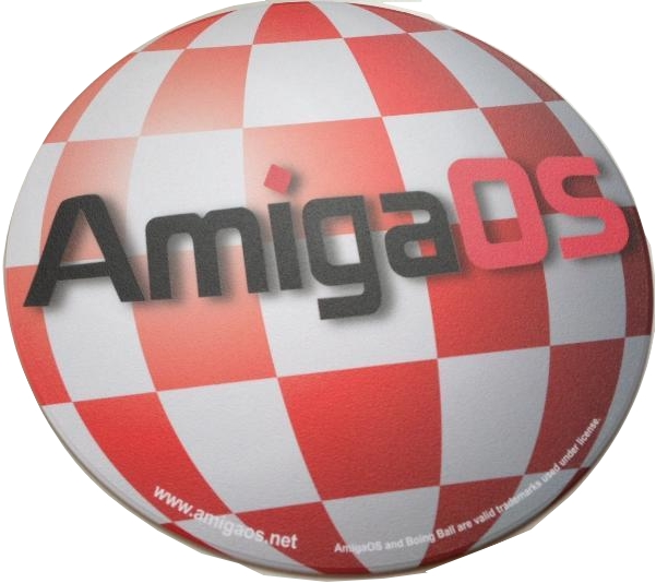 AmigaOS Boing Ball Mouse Mat (Round)