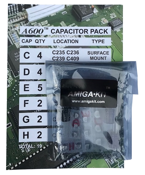 A600 Capacitor Pack for Professional Recapping