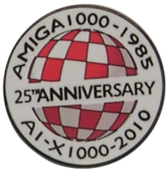 Amiga 25th Anniversary Pin Badge