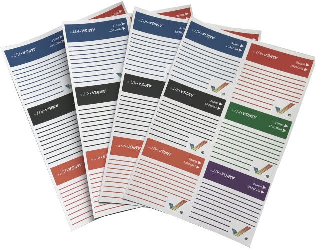 Rainbow Floppy Disk Labels (24 pack)