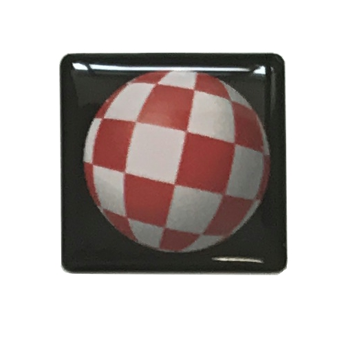 Boing Ball Sticker Badge (Black)