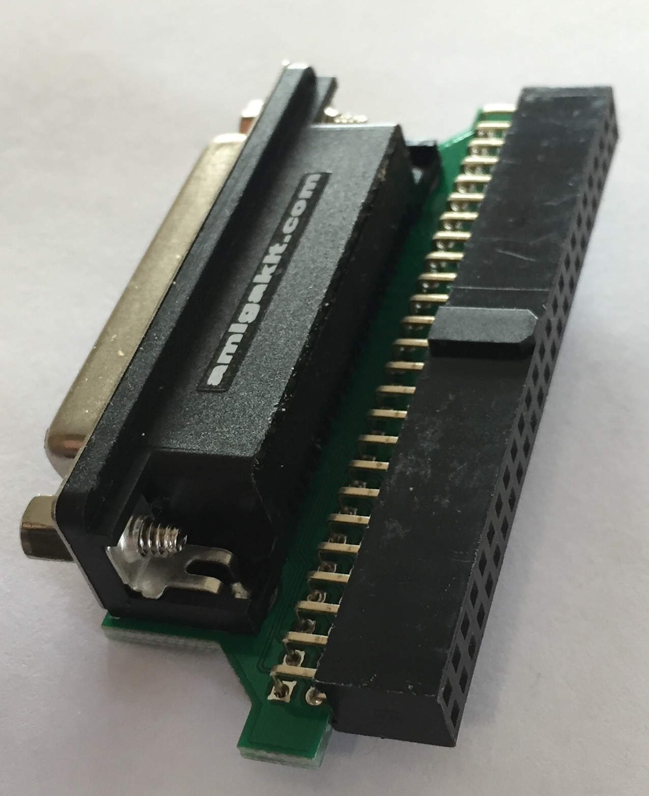 25-pin Female DSub to 50-way IDC Female SCSI Adapter
