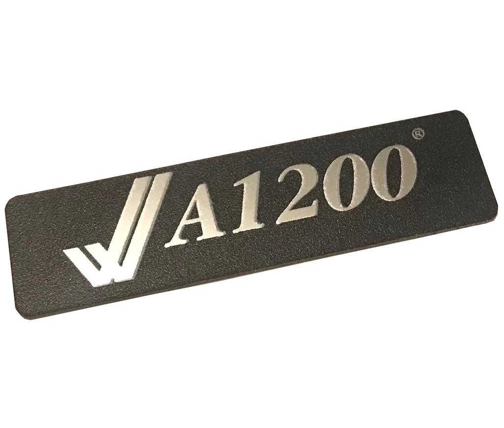 A1200 Metal Case Badge (Black/Silver)