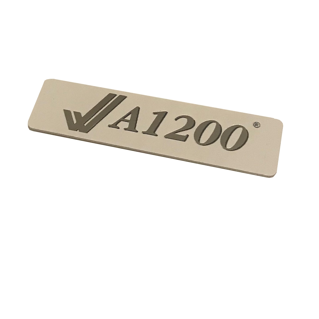 A1200 Metal Case Badge (White/Silver)