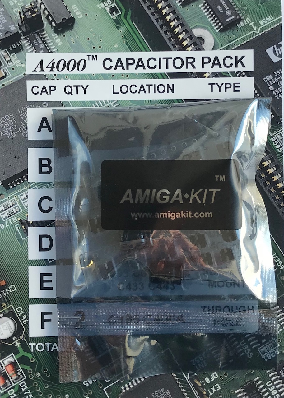 A4000 Capacitor Pack for Professional Recapping