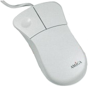 Amiga Mouse (Branded/White)