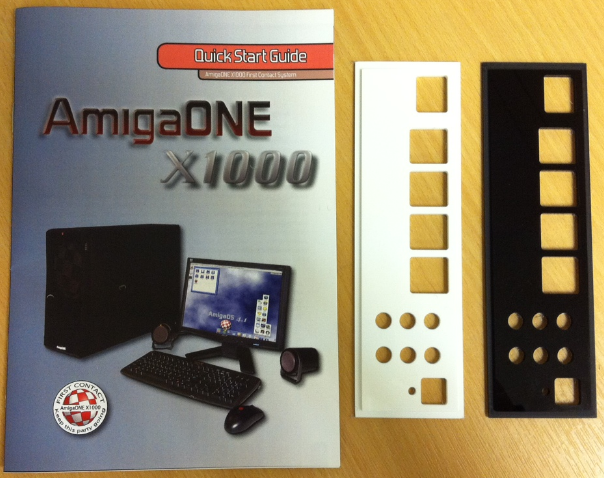 AmigaOne X1000 Backplate & Quickstart Guide