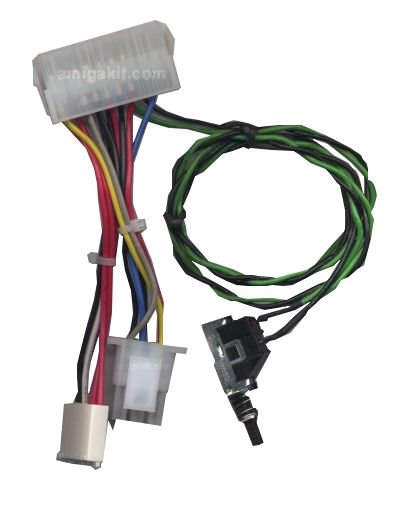 Amiga 4000 ATX PSU Power Adapter Cable & Switch