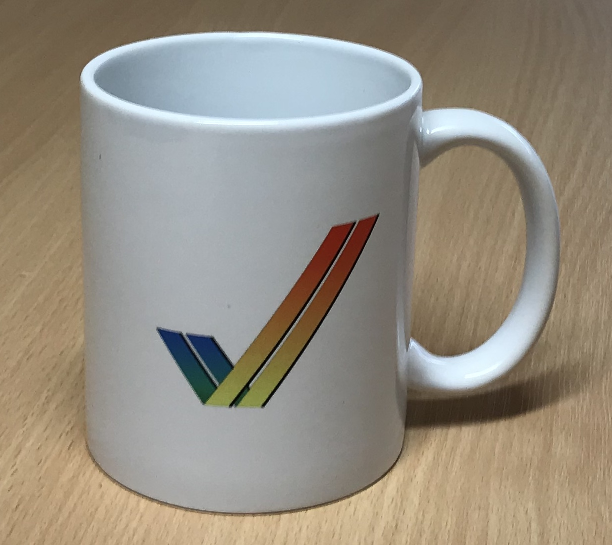 Rainbow Double Tick / Checkmark Drinking Mug