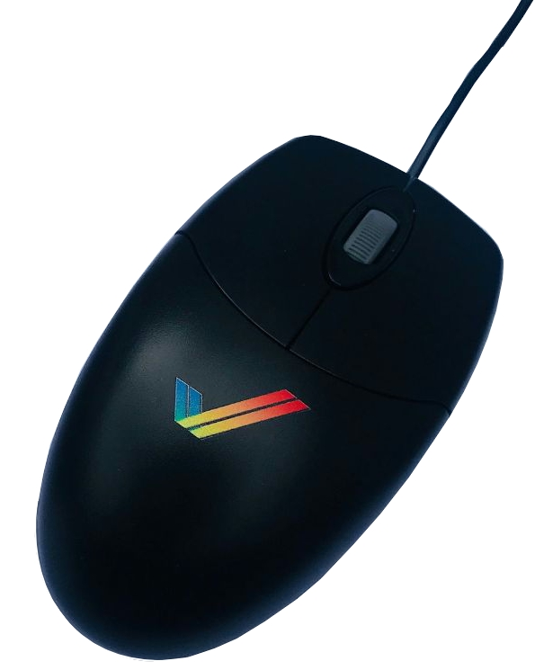 Classic Amiga Optical Laser  Scroll Mouse (Black)