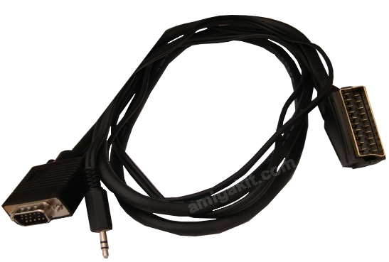 SCART TV TO MINIMIG RGB CABLE WITH AUDIO