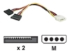 MOLEX TO SATA POWER SPLITTER CABLE 2 WAY