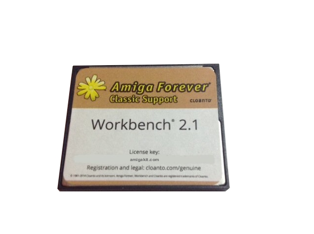 Workbench 2.1 on 4GB Compact Flash CF