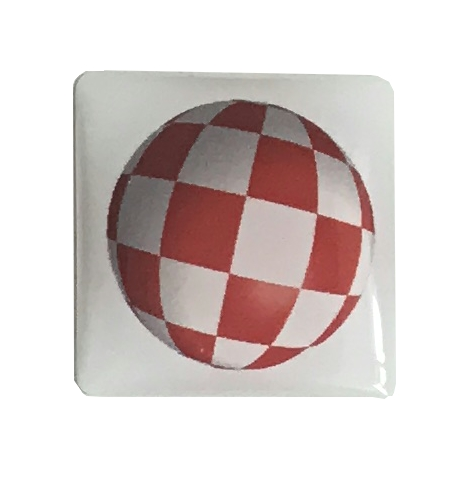 Boing Ball Sticker Badge (White)